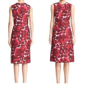 Marc Jacobs 100% Silk Blossoms Midi Dress sz 2